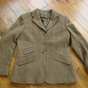 Lauren Ralph Lauren Tweed Equestrian Blazer Jacket